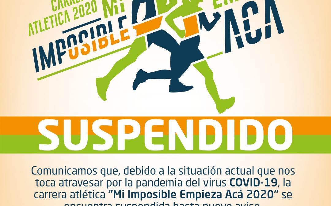 Se suspende la Carrera Atlética 2020 hasta nuevo aviso