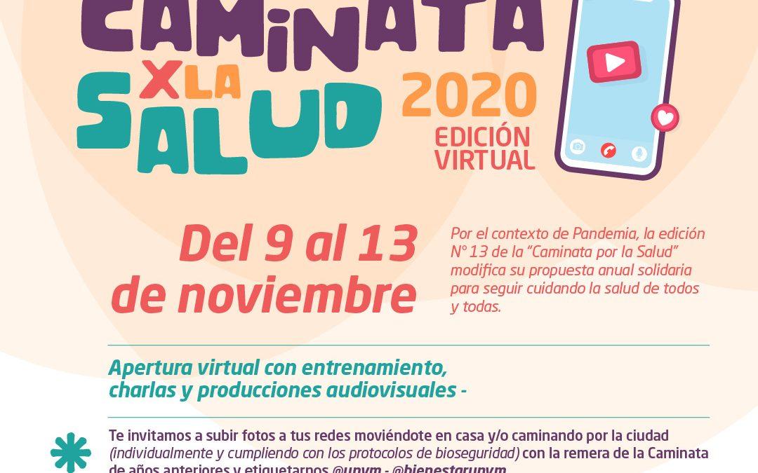 De manera virtual, se realizará la 13° Caminata Por la Salud de la UNVM