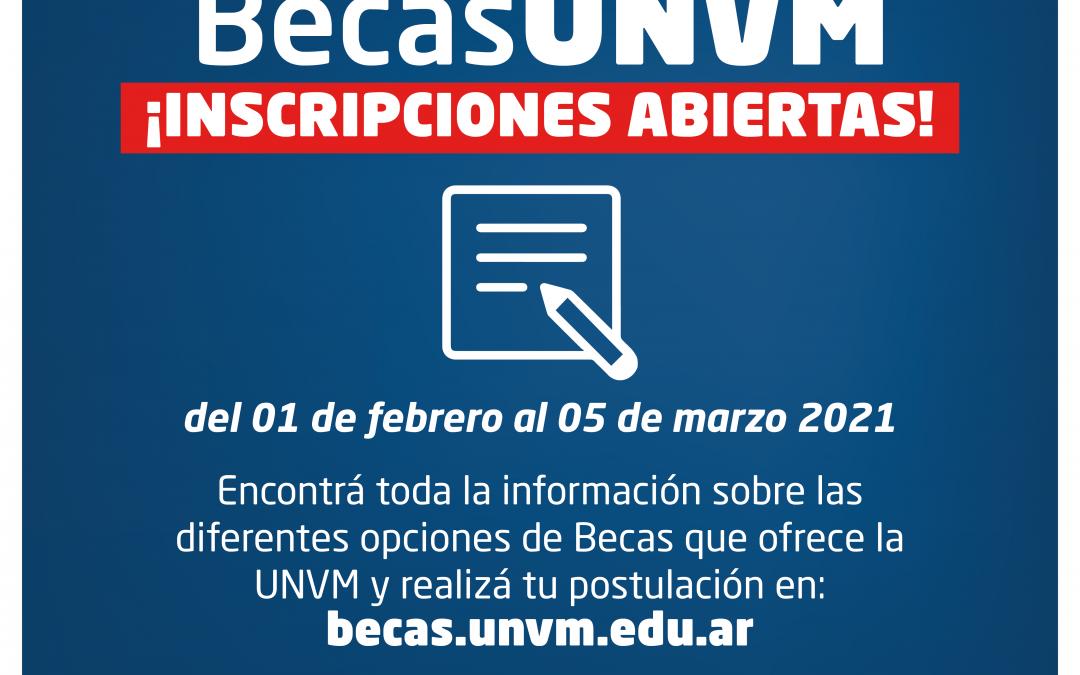 La UNVM abrió la convocatoria para su sistema de Becas 2021